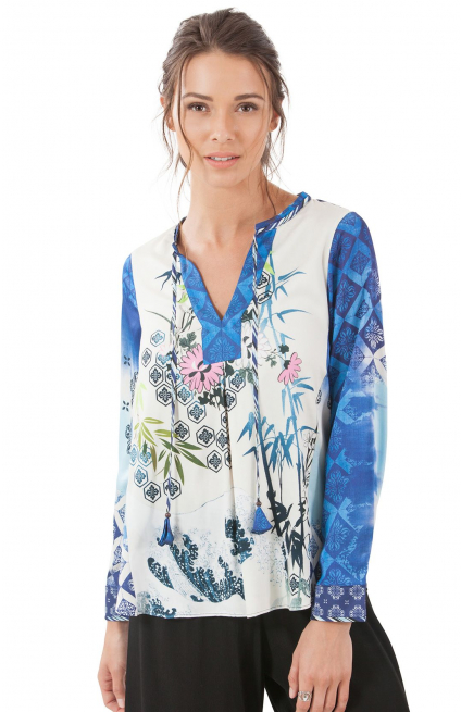 Lujuana Satin Floral Tunic